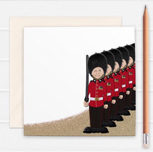 Load image into Gallery viewer, British Guardsmen Greetings Card - Cherry Pie Lane