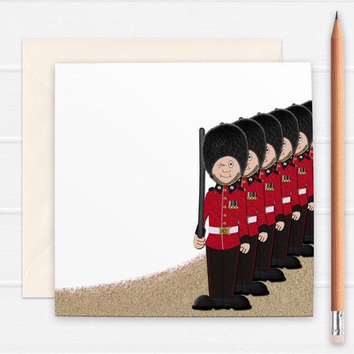 British Guardsmen Greetings Card - Cherry Pie Lane
