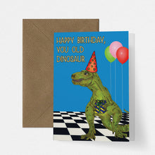 Load image into Gallery viewer, Funny Disco Dinosaur Birthday Card - Cherry Pie Lane
