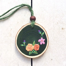Load image into Gallery viewer, Handmade Copper Rose and Wildflower Wood Slice - Cherry Pie Lane