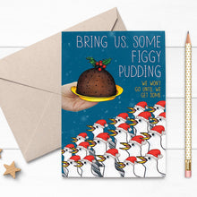 Load image into Gallery viewer, Figgy Pudding Seagull Christmas Card - Cherry Pie Lane