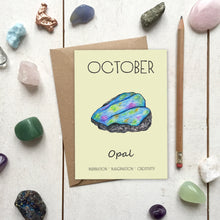 Load image into Gallery viewer, October Birthstone Opal Illustration | Birthday | New Baby Card - Cherry Pie Lane