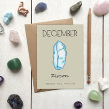 Load image into Gallery viewer, December Birthstone Zircon Illustration | Birthday | New Baby Card - Cherry Pie Lane