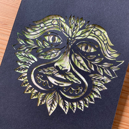 UNFRAMED Jack in the Green - Green Man Papercut - Cherry Pie Lane