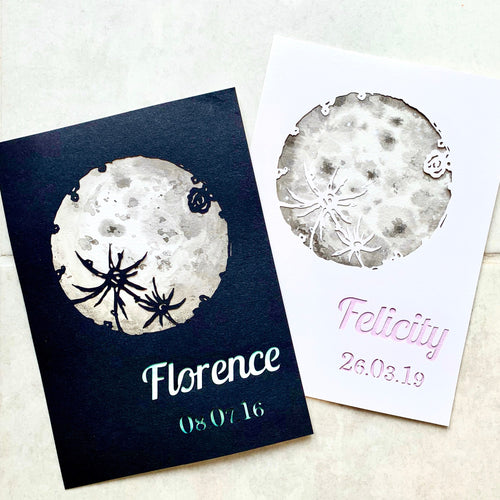UNFRAMED Personalised Moon Papercut - Cherry Pie Lane
