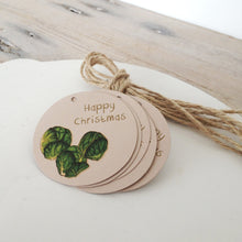 Load image into Gallery viewer, Pack of 10 Cheeky Little Sprout Christmas Gift Tags - Cherry Pie Lane