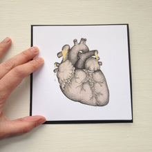 Load image into Gallery viewer, Anatomical Heart Illustration Card - Cherry Pie Lane