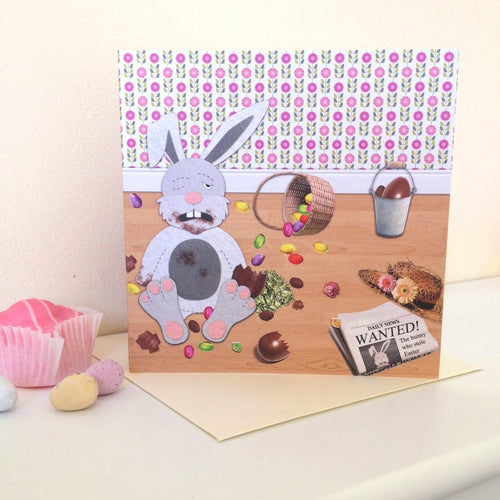 Cheeky Easter Bunny Card - Cherry Pie Lane