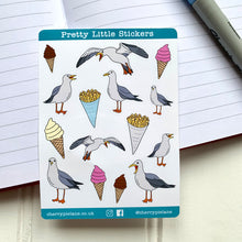 Load image into Gallery viewer, Seaside Seagull Glossy Pretty Little Stickers - Cherry Pie Lane