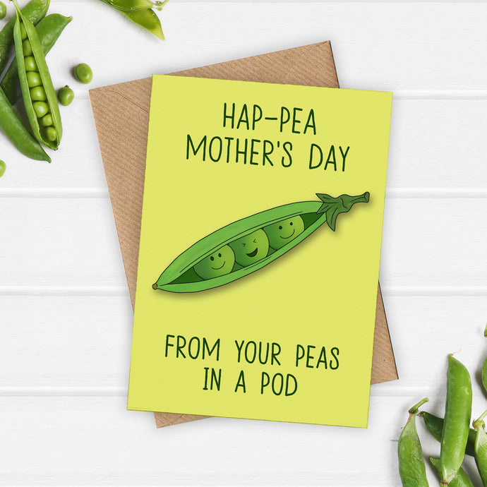 Cute Peas in a Pod Mothers Day Card - Cherry Pie Lane