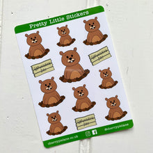Load image into Gallery viewer, Groundhog Day Glossy Pretty Little Stickers - Cherry Pie Lane