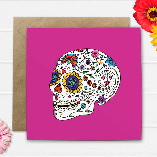 Day Of The Dead Greetings Card - Cherry Pie Lane
