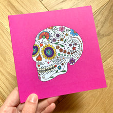 Load image into Gallery viewer, Day Of The Dead Greetings Card - Cherry Pie Lane