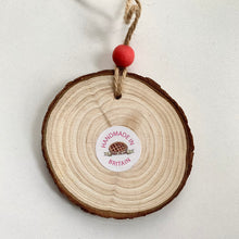 Load image into Gallery viewer, Hand Painted Pink Spring Floral Woodslice Decoration - Cherry Pie Lane
