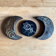 Load image into Gallery viewer, Handmade Wooden Abstract Floral Moon Set - Cherry Pie Lane