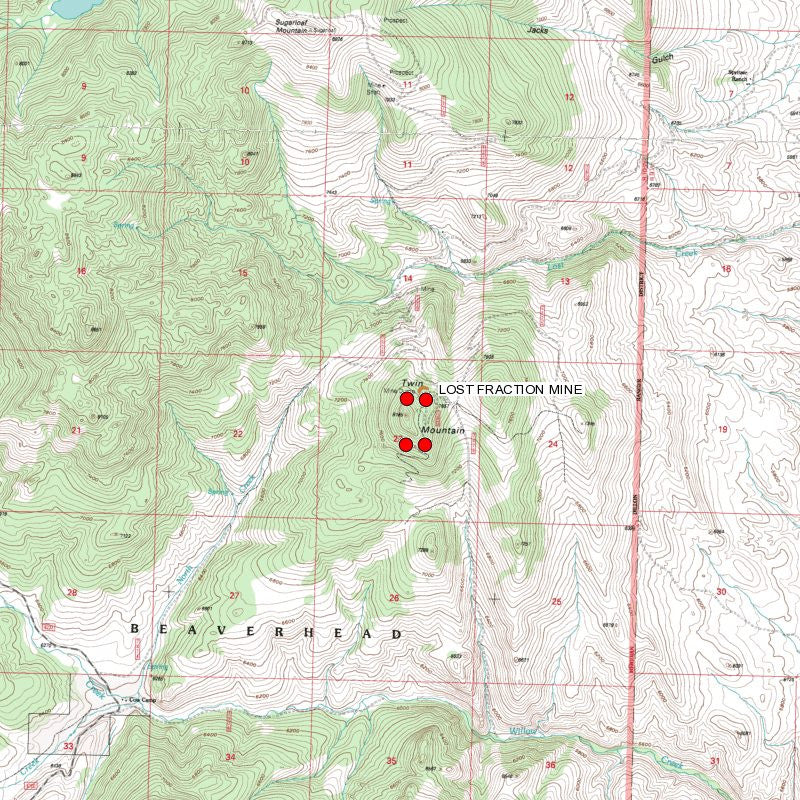 LOST FRACTION MINE Lode Mining Claim, Elkhorn District, Beaverhead County, Montana