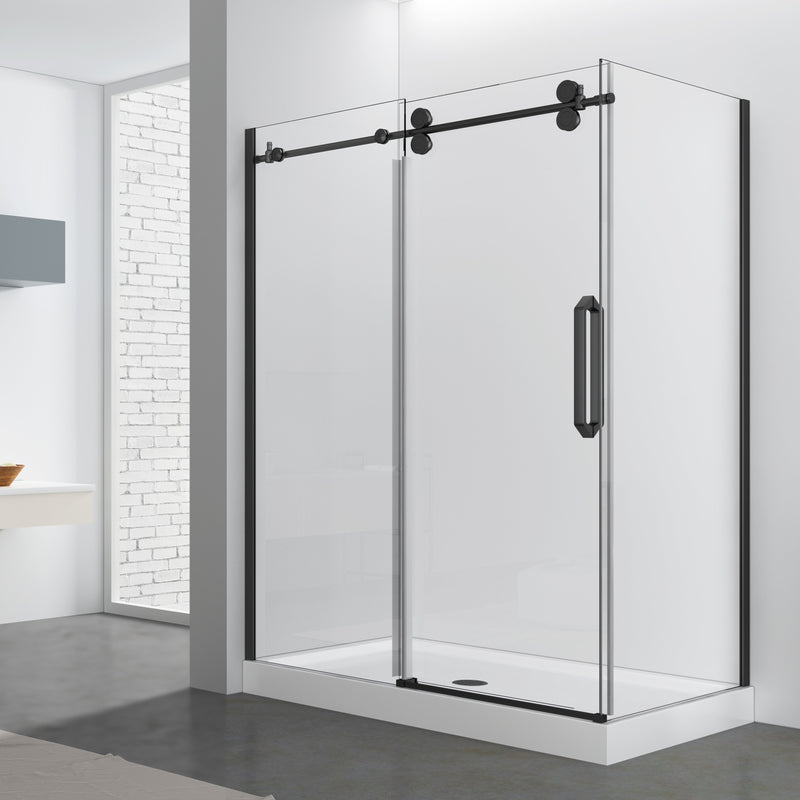 SLIDING SHOWER - ZARO BLACK 10MM