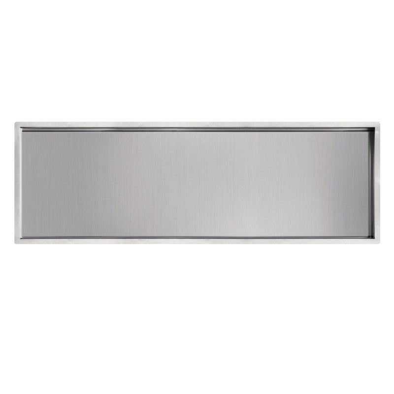 "SHOWER WALL NICHE - 12 X 36"" BRUSHED"