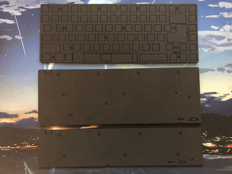 KBD75v2 case and plate foam (aluminum only version)