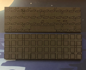 Planck case and plate foam set