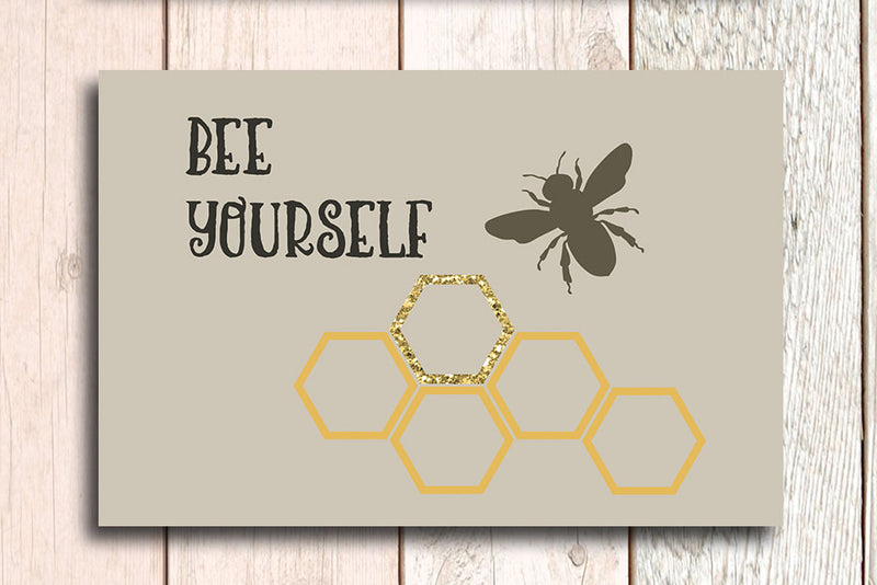 First I drink the coffee and Bee yourself postcards. - Haveago Crafter