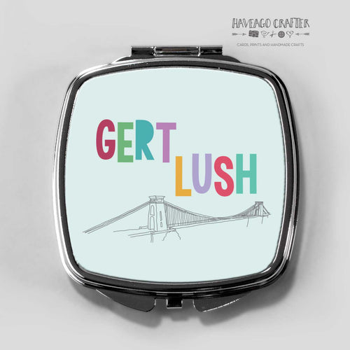 Gert lush Bristol suspension bridge compact pocket mirror. - Haveago Crafter