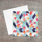 Thank you geometric design printed greetings card - Haveago Crafter
