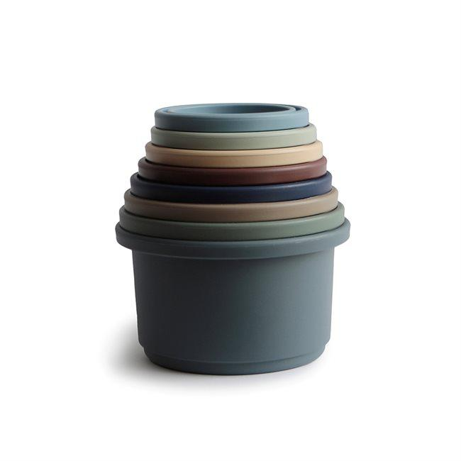 Dark Slate Gray Stacking cups by Mushie | Forest