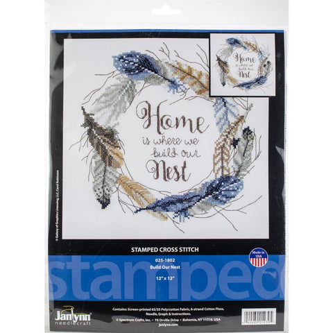 Cross Stitch (counted) - Feathered stars
