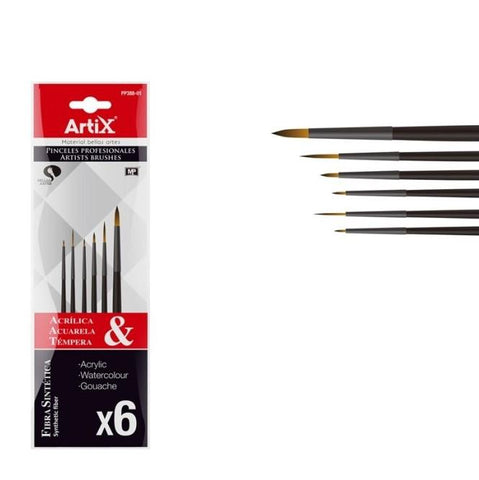 Artix Mixed Brushes 6pcs pp388-01