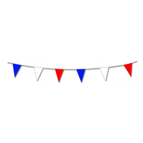 33 ft Red, White and Blue Pennant Bunting