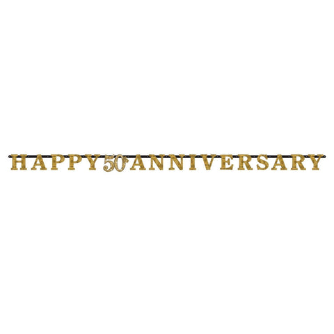 50th Anniversary Prismatic Letter Banner