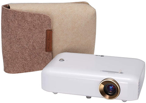 LG CineBeam PH550G Portable Projector (HD, LED, 100,000:1 Contrast, 550 lumens), White