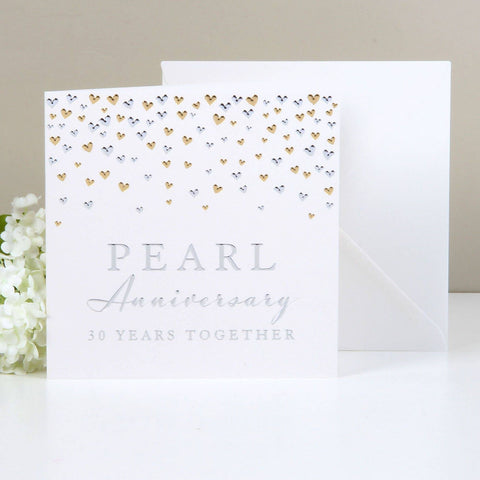 Amore Deluxe Card - Anniversary - Pearl