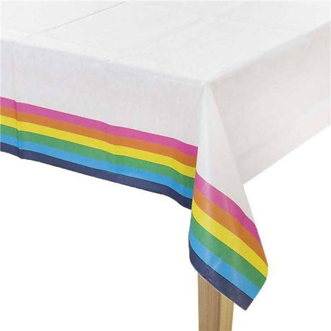 Rainbow Paper Table Cover