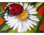 Diamond Art - Chamomile and ladybird