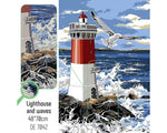 DIAMOND ART KIT - Lighthouse and Waves