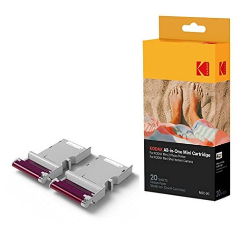 KODAK CARTRIDGE AND PAPER FOR MINI 2 PRINTER AND MINI SHOT CAMERA