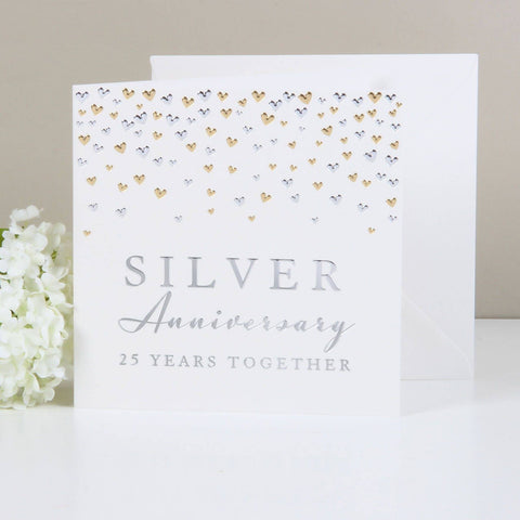 Amore Deluxe Card - Anniversary- Silver