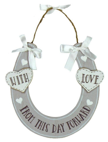Love Story Wooden Good Luck Horse Shoe