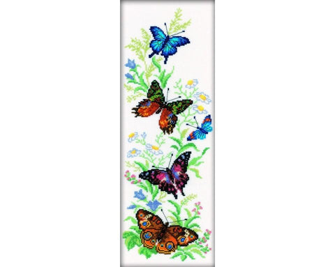 Cross Stitch Kit (counted)  - Flying Butterflies