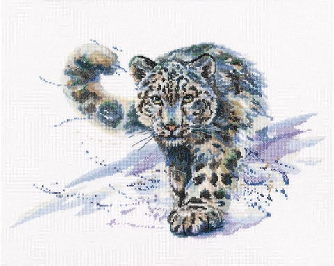Cross Stitch Kit (counted)  - snow leopard