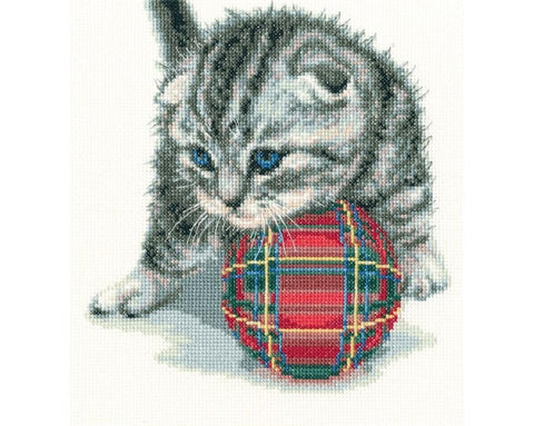 Cross Stitch Kit (counted)  - Playful Kitten