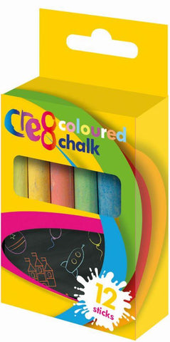 Coloured chalk 12pcs