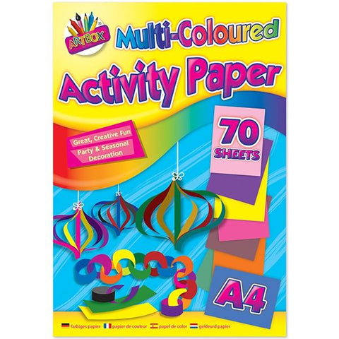 Multi coloured pad 70 sheets