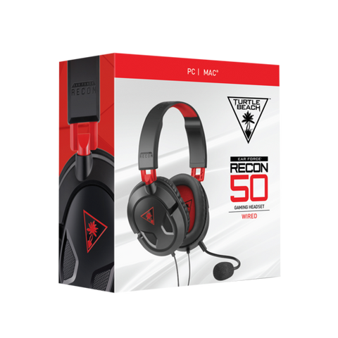 TURTLE BEACH RECON 50 OVER-EAR HEADSET PC | PS5™ | PS4™ | PS4 PRO™ | XBOX SERIES X|S | XBOX ONE | NINTENDO SWITCH™* | MOBILE