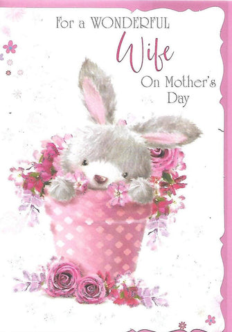 Mothers Day Cute Card Wife