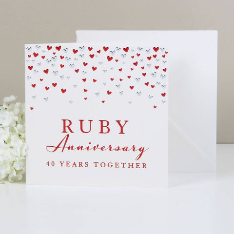 Amore Deluxe Card - Anniversary - Ruby
