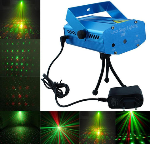 Mini laser stage lighting projector