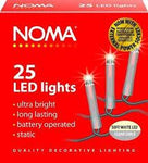 Noma LED battery lights - Clear Cable